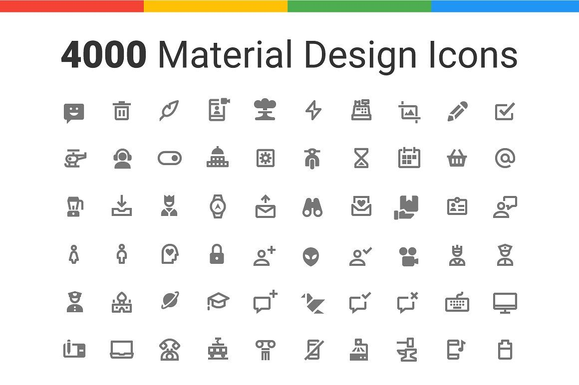 4000 Material Design Icons Nova Material Design Icon Design