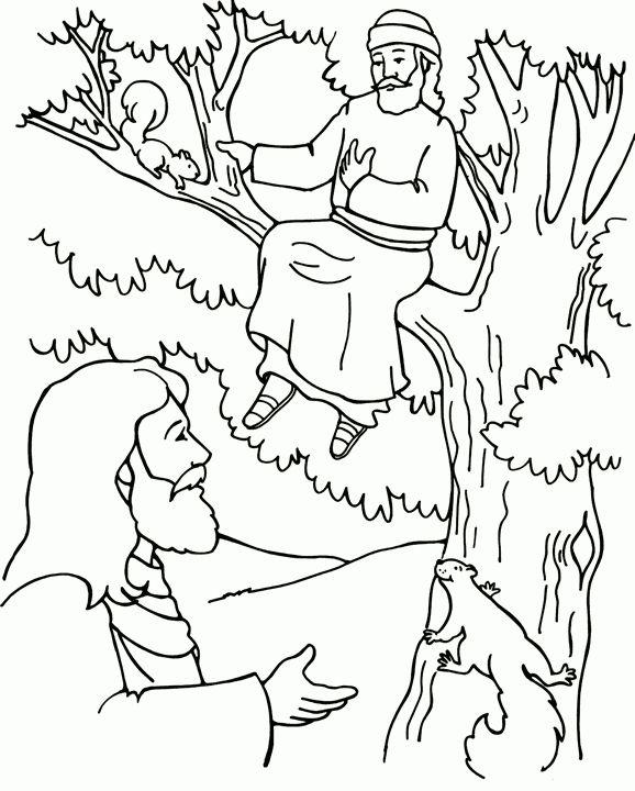 Zacchaeus Coloring Page Sunday School Coloring Pages Preschool Bible Bible Coloring Pages