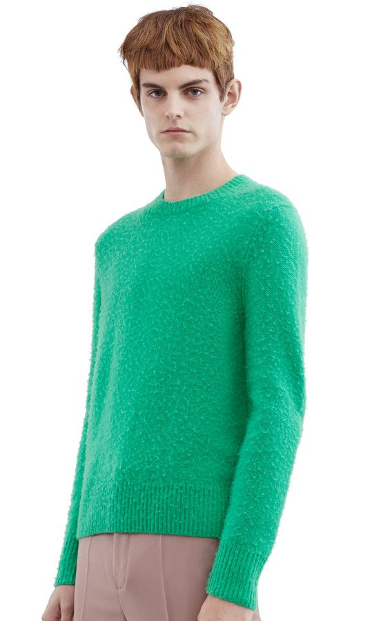 Acne Studios Peele holly green Hand pilled sweater   fashion   Pinterest b463861aa7e