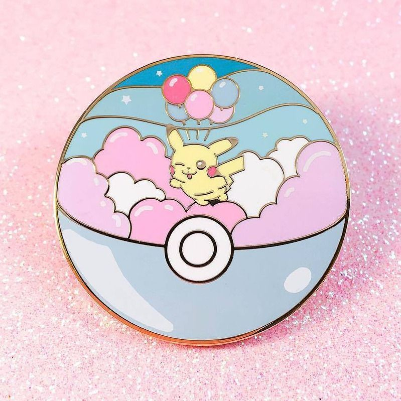 Pastel Pokemon Pins made by ArcadeHealer -