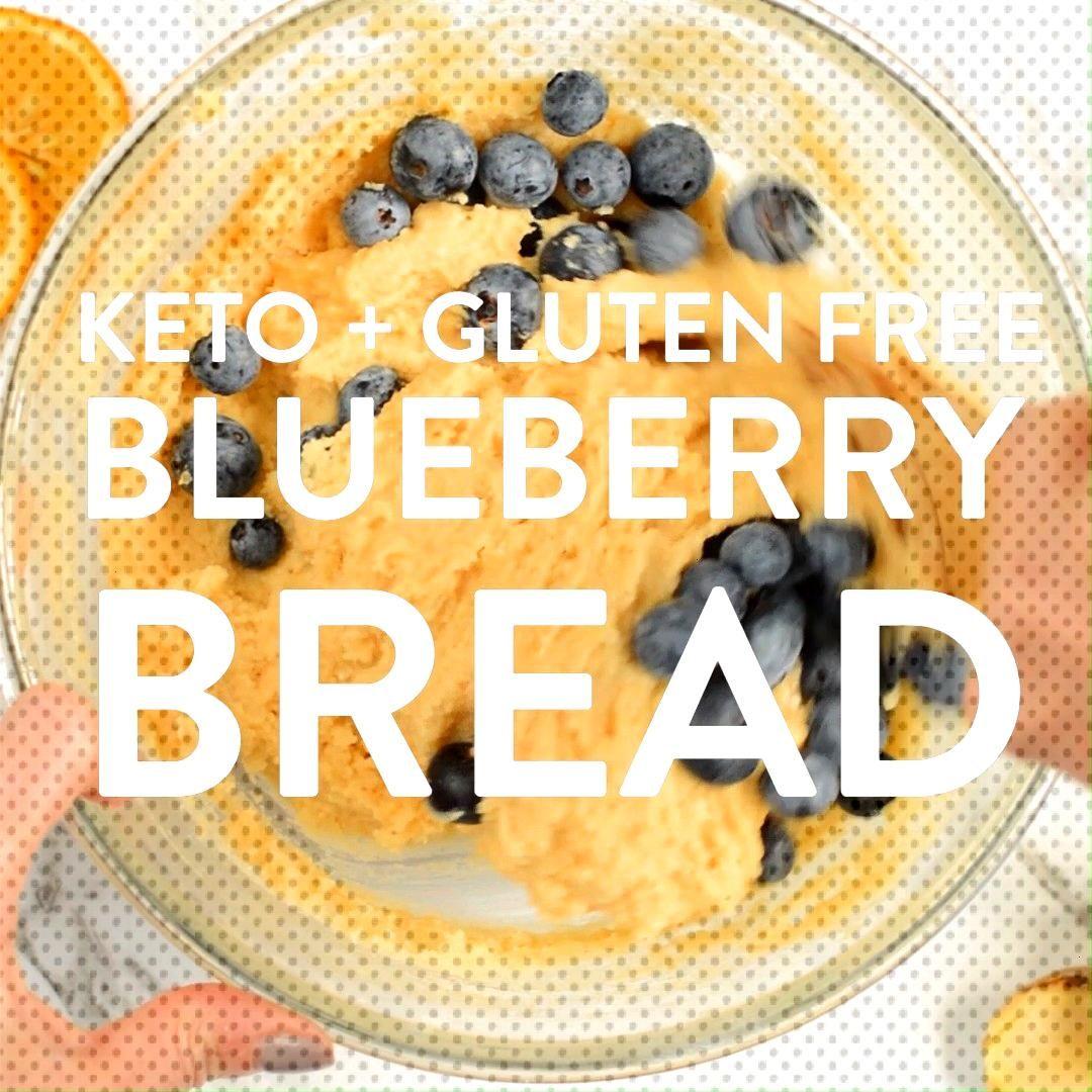 KETO BLUEBERRY BREAD with lemon 3.9 net carbs