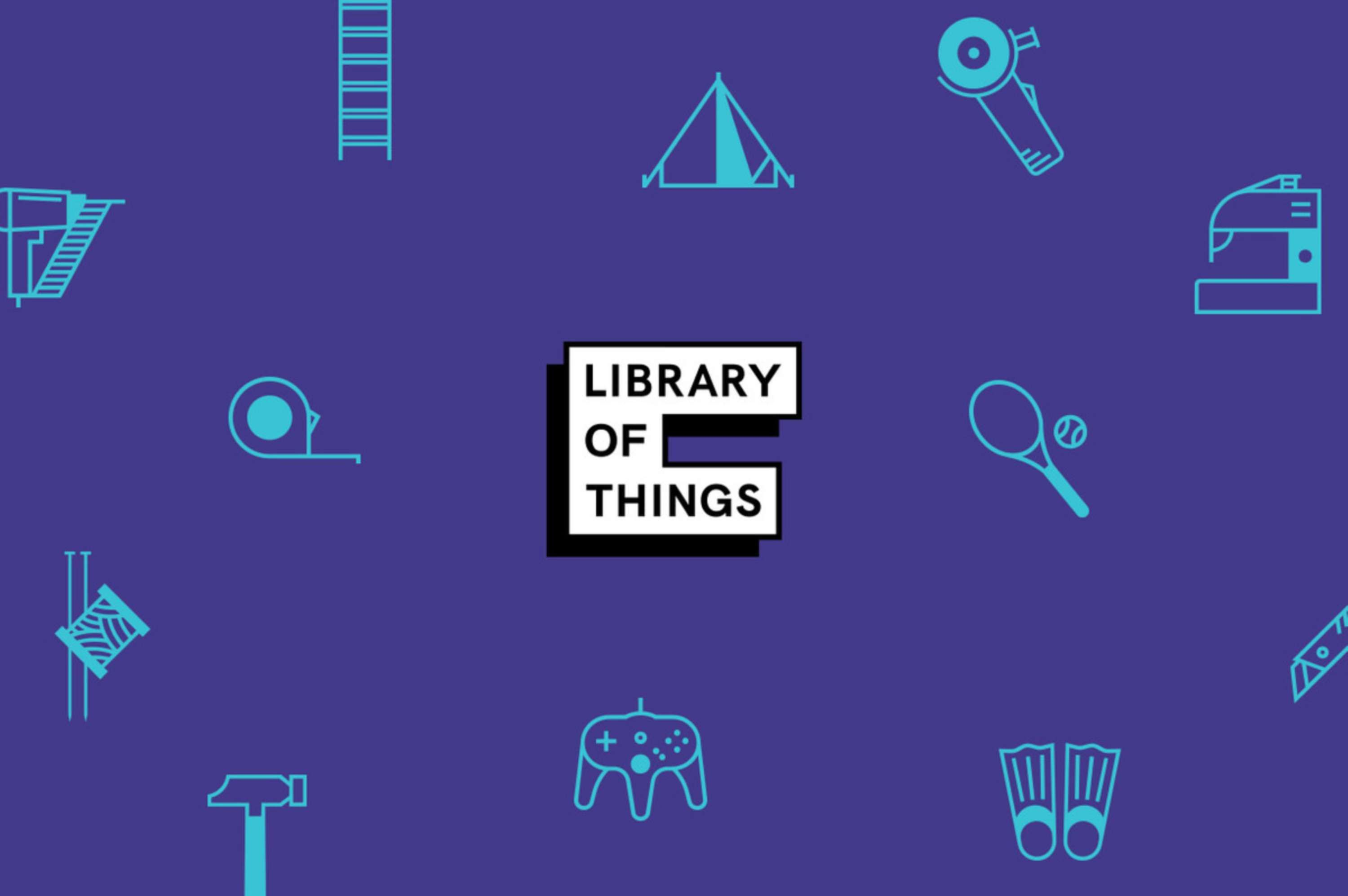 Library of Things Branding The Dots Studio logo