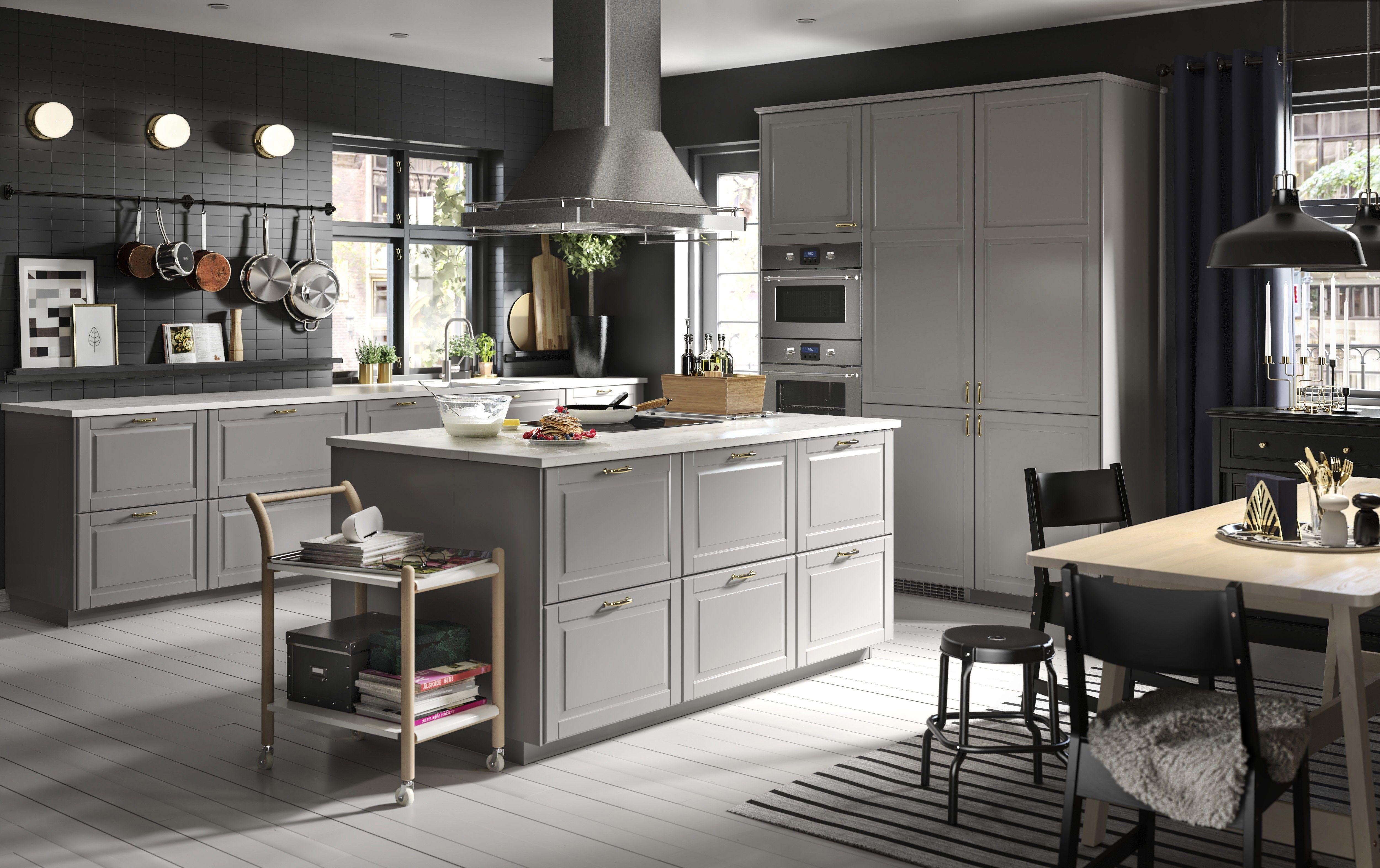 Bodbyn Front Voor Vaatwasser Grijs S Ikea Keuken Keuken Met