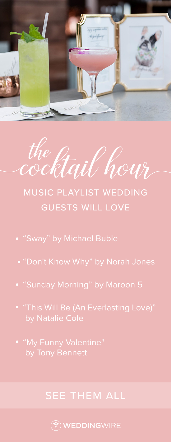 The Cocktail Hour Music Playlist Wedding Guests Will Love