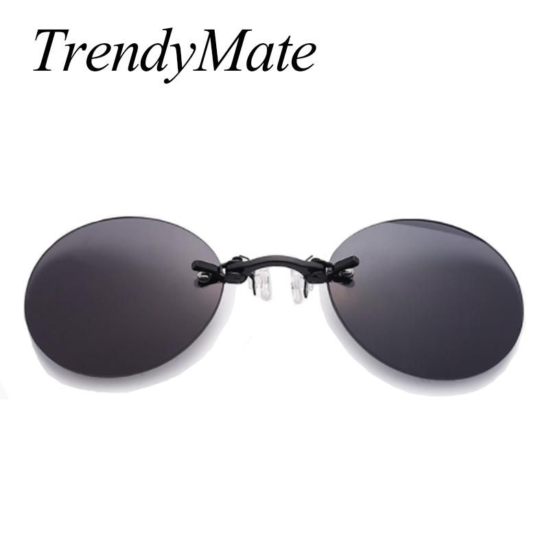 39db2ce6b7 Brand Designer Retro Round Clip On Nose Glasses Men Matrix Morpheus Movie  Rimless Sunglasses Women Oculos Gafas De Sol 1181T. Yesterday s price  US   15.78 ...