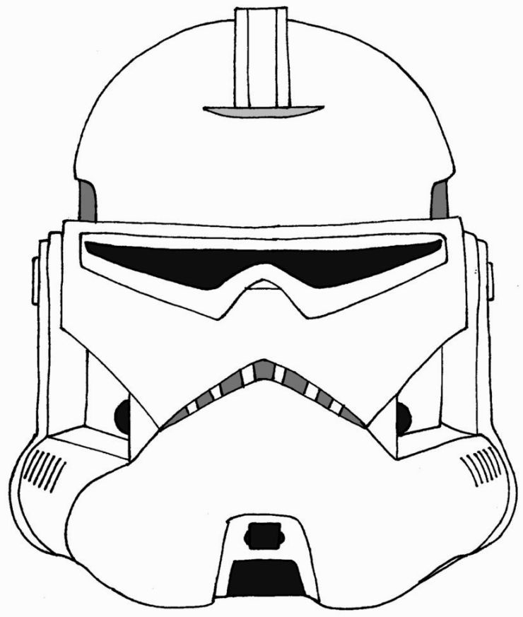 Clone Trooper Coloring Page Star Wars Helmet Clone Trooper