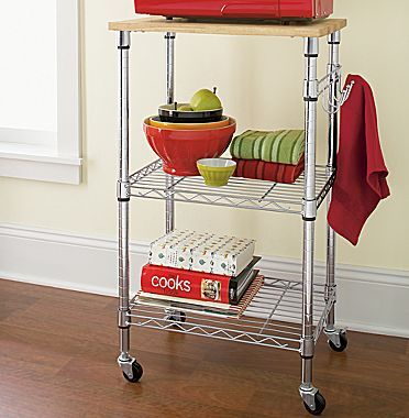 Kitchen Microwave Cart Cooks Utility Jcpenney In