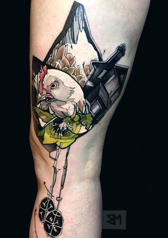 Bob Mosquito chicken tattoo