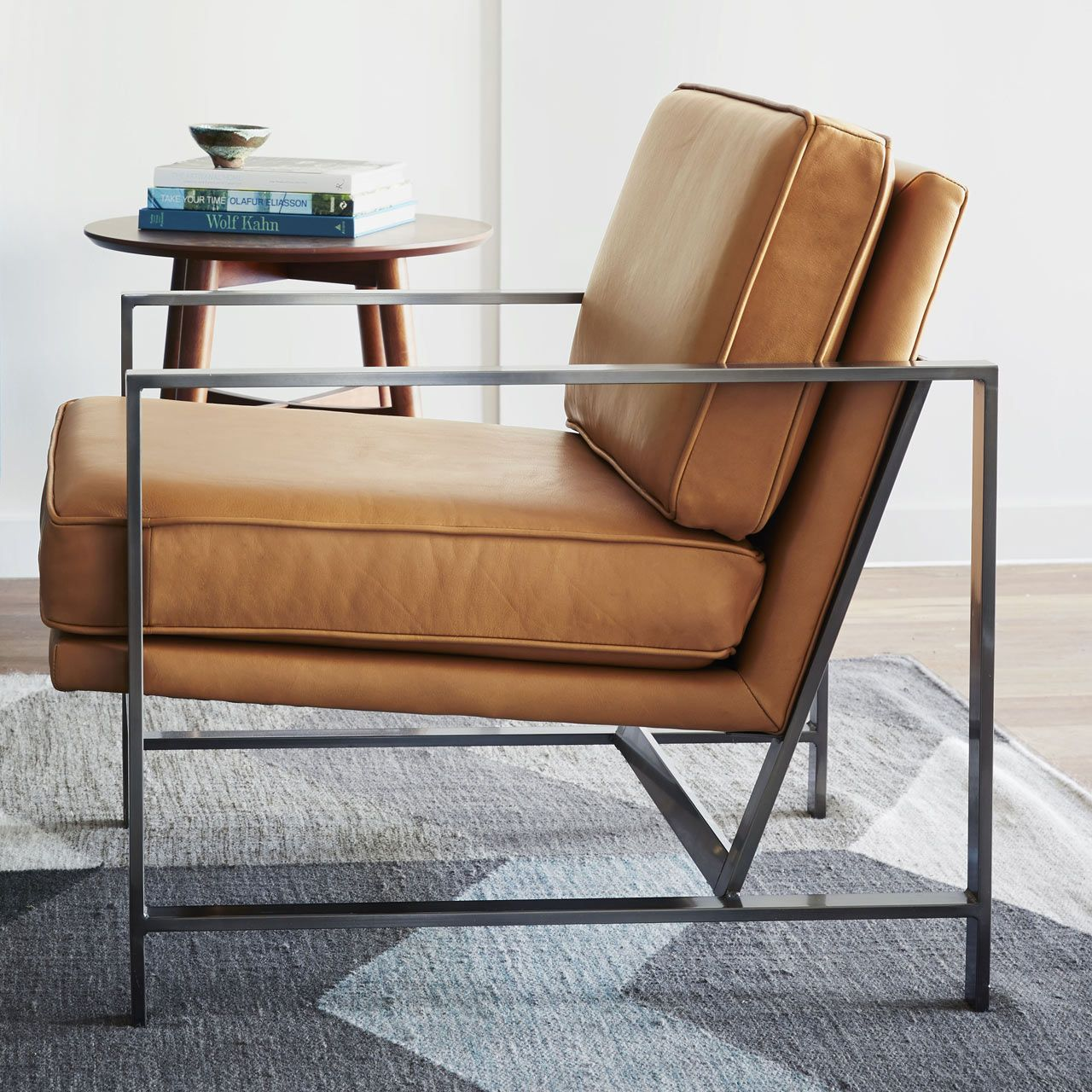 West elm workspace 15 industrial modern industrial for Mid century modern armchairs