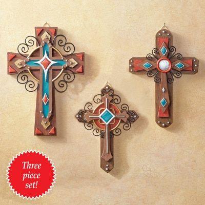 Southwest Wall Crosses - Set of 3 | Eduardos madera | Pinterest ...