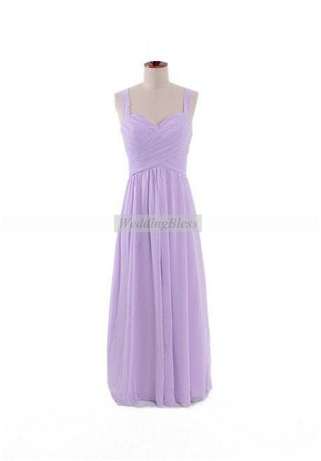 Light Purple Long Formal Dress with straps