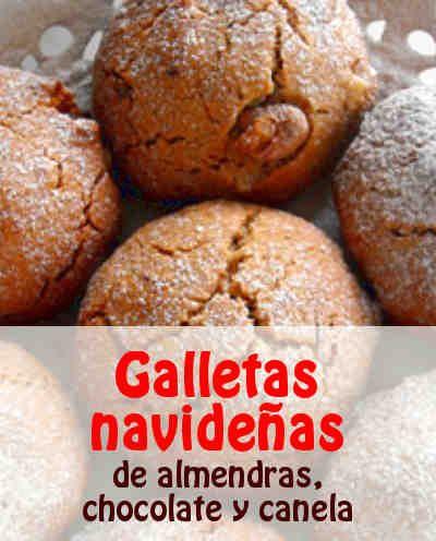 Galletas Navidenas De Almendras Chocolate Y Canela Sin Gluten