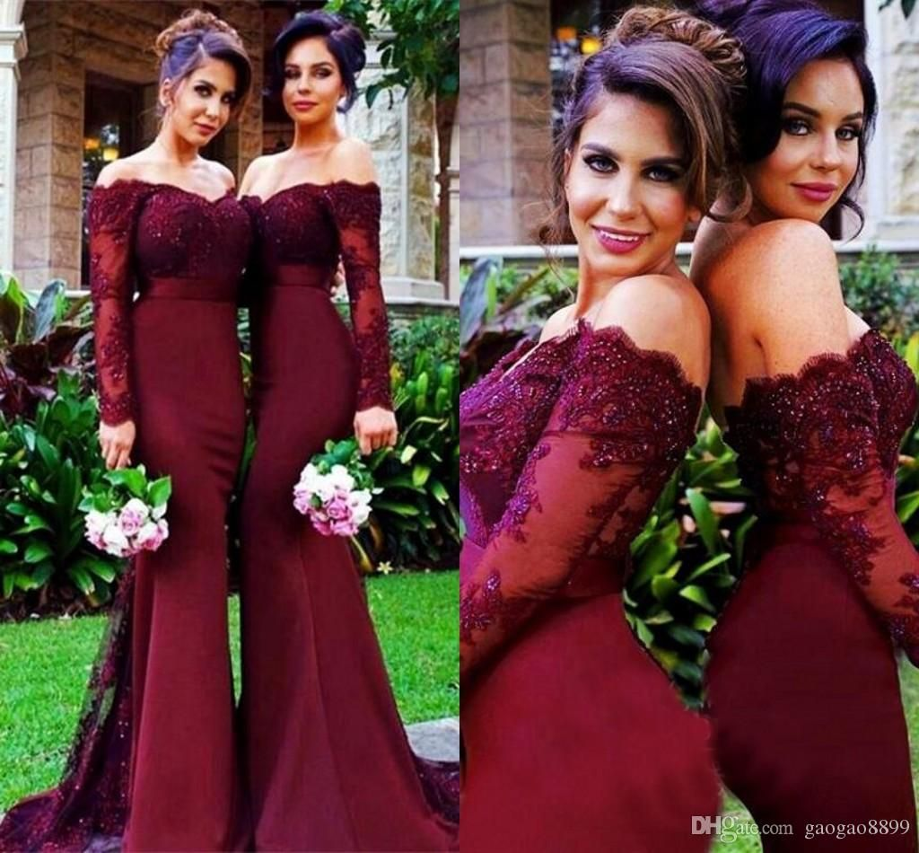 2017 burgundy lace stain long mermaid bridesmaid dresses covered 2017 burgundy lace stain long mermaid bridesmaid dresses covered button custom ombrellifo Images