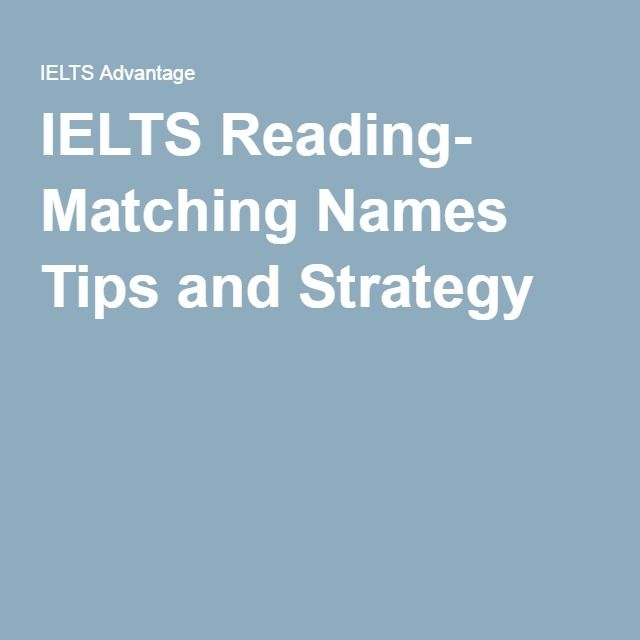 Ielts reading matching names tips and strategy ielts success ielts reading matching names tips and strategy ccuart Image collections