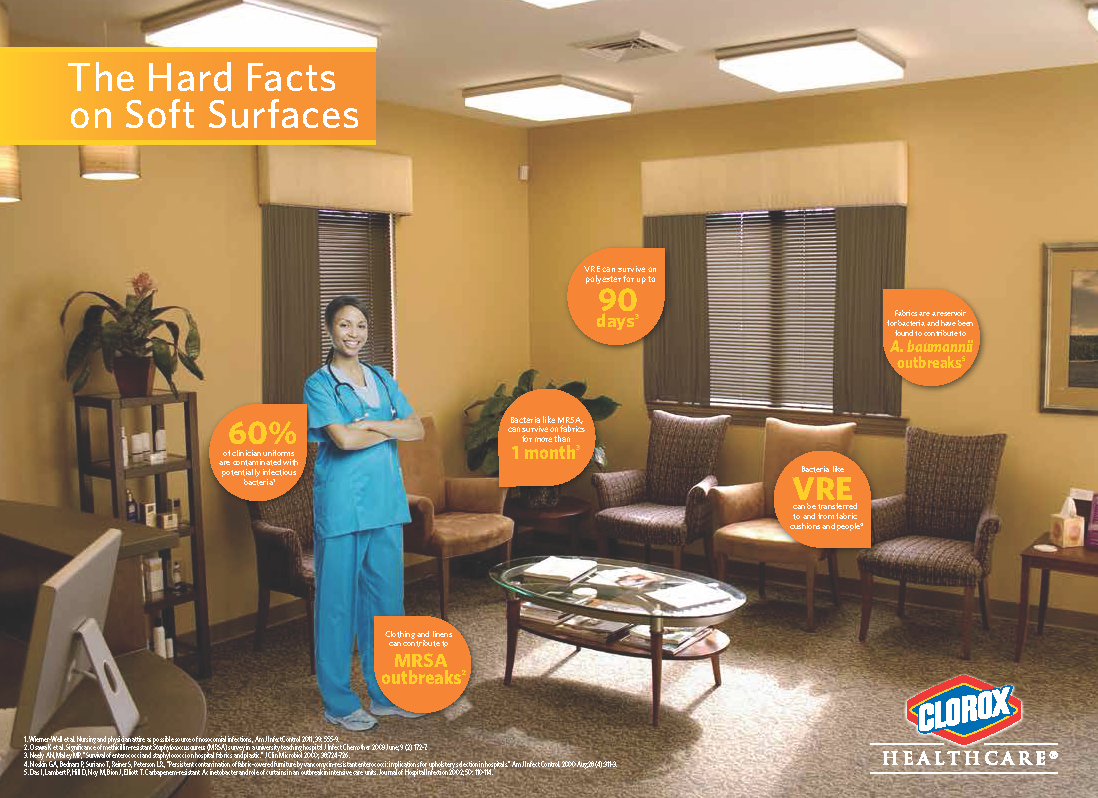The Hard Facts On Soft Surfaces In Healthcare By Clorox Page 2 Germs How To Stay Healthy Health Care Infection Control