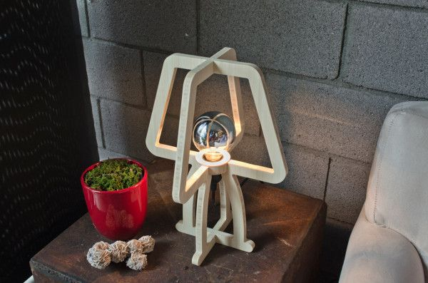 A Lamp Designed to Use as Little Material as Possible Photo