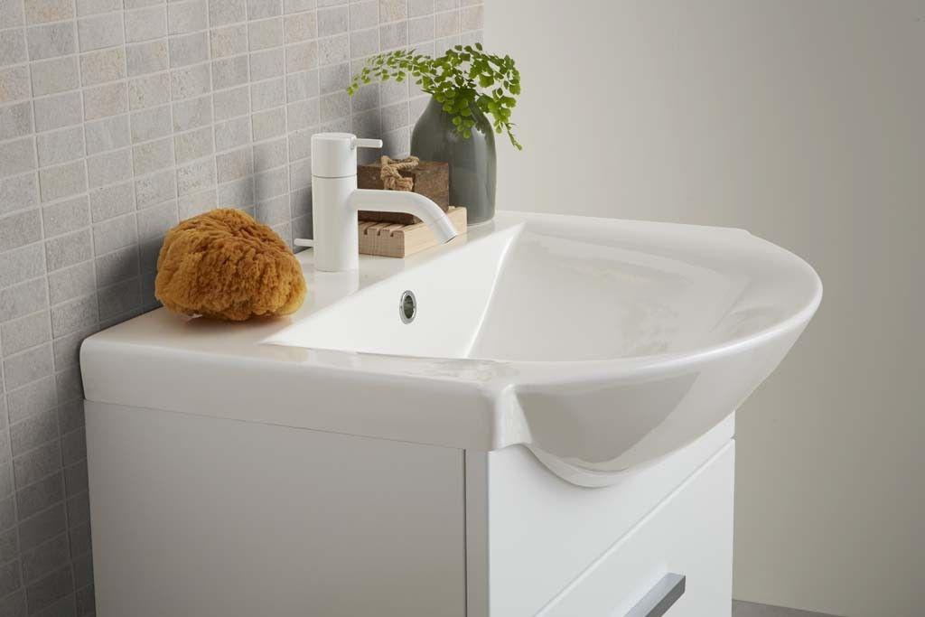 Ruime wastafel op smal meubel - Badkamers | Pinterest - Blog en Met