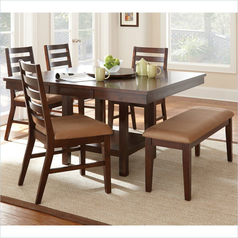 Eden 5 Piece Dining Table Set in Dark Cherry - ED400TC-5Pc-Dining-PKG - Lowest price online on all Eden 5 Piece Dining Table Set in Dark Cherry - ED400TC-5Pc-Dining-PKG