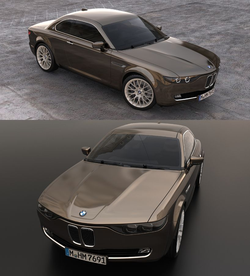 Stunning BMW CS Vintage Concept Tribute Shows Old 1960s
