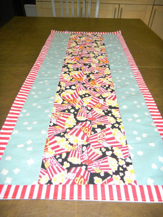 Movie Time Table Runner by SewcialStudies101 on Etsy