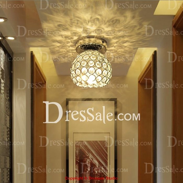 65.00 Wonderfully Bowl Shade Crystal Beads Embedded Semi-Flush Mount in Chrome FinishCode:# HL360603