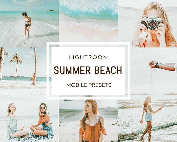 Summer beach MOBILE Lightroom presets | Products | Lightroom