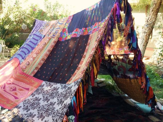Witchy Gypsy Woman Boho tent MADE TO ORDER glamping by HippieWild