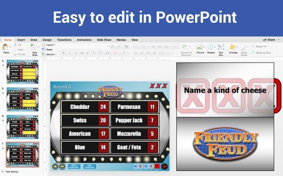 Customizable Friendly Feud Powerpoint Template With Automatic