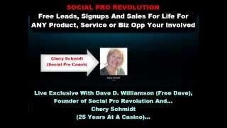TO SEE IF YOU QUALIFY For The Social Pro Revolution Coaching Movements Free One-on-One Personal Coaching And Video Training Worth Over $1,000 CONTACT ME Using Free Skype: Dave D. Williamson (Skype Username: davedwilliamson) - If You're Not Familiar With Skype,   Dave D. Williamson  (Free Dave) Founder - Social Pro Revolution
