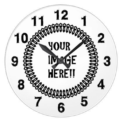 Design Your Own Round Large Wall Clock  Template Gifts Custom