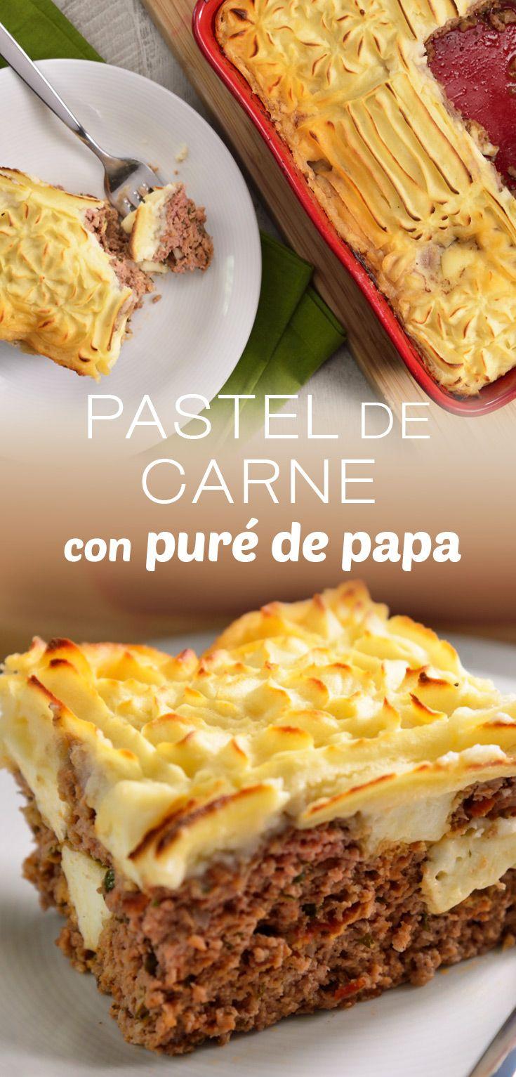 receta de pastel de papa con carne molida facil