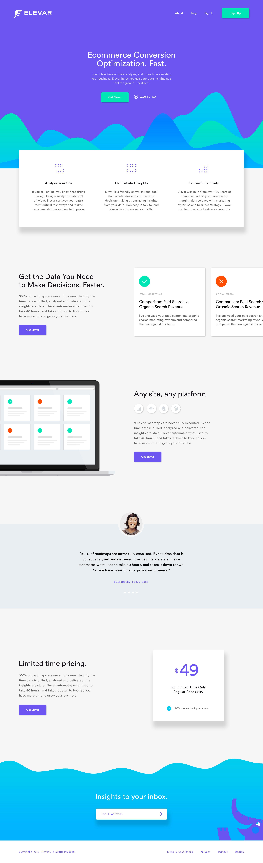 Elevar Landing Page Update Web Design Website Inspiration Web App Design