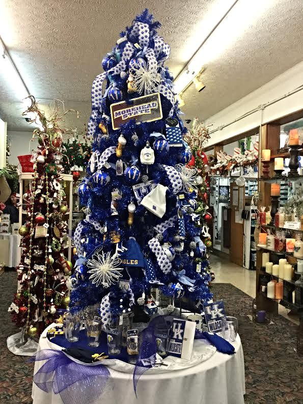 Show your Morehead State University and University of Kentucky pride with  Holbrook Drug's collegiate Christmas tree in Morehead, KY. - Show Your Morehead State University And University Of Kentucky Pride