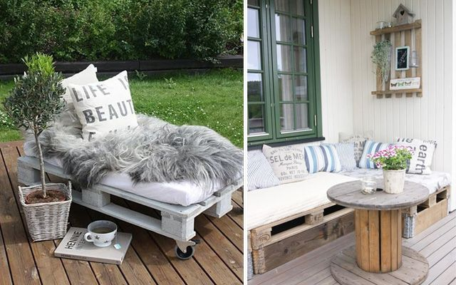 decofilia te trae hoy ideas para decorar con palets utilizndolos como base de asientos sillones - Asientos Con Palets