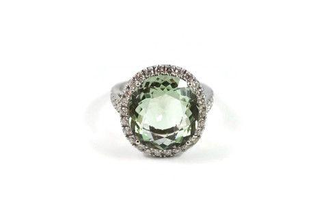 "A & Furst "" Le Grand Magnifique"" Ring with Green Amethyst (Prasiolite) – AF Jewelers"