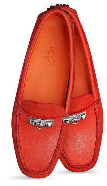 e2d0c08c4ab ~Hermes Red Irving Car Shoes