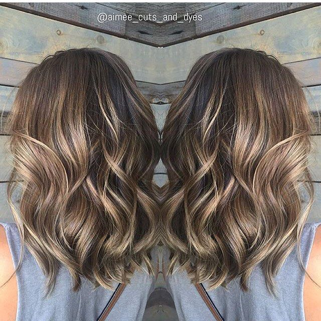 Balayage brunette. Color by @aimee_cuts_and_dyes #hair #hairenvy #haircolor #brunette #balayage #highlights #newandnow #inspiration #maneinterest