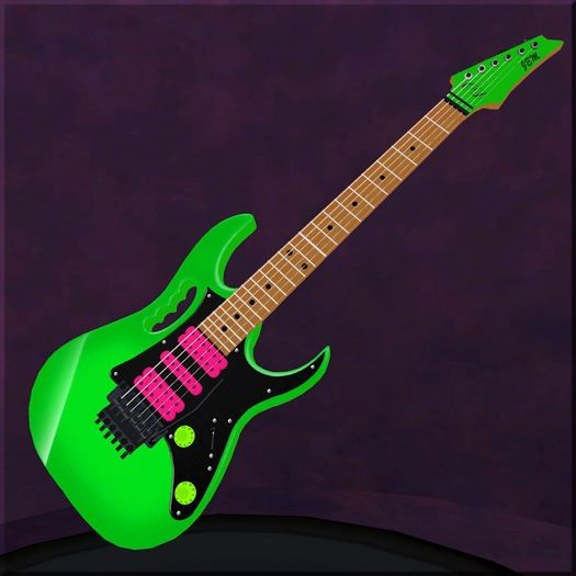 Steve Vai Jem Electric By Ibanez Love The Neon Green Guitar