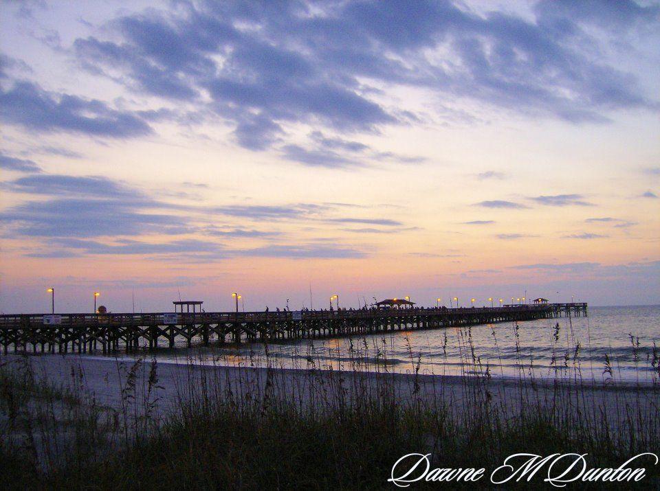 Pier At Dawn Springmaid Myrtle Beach Sc