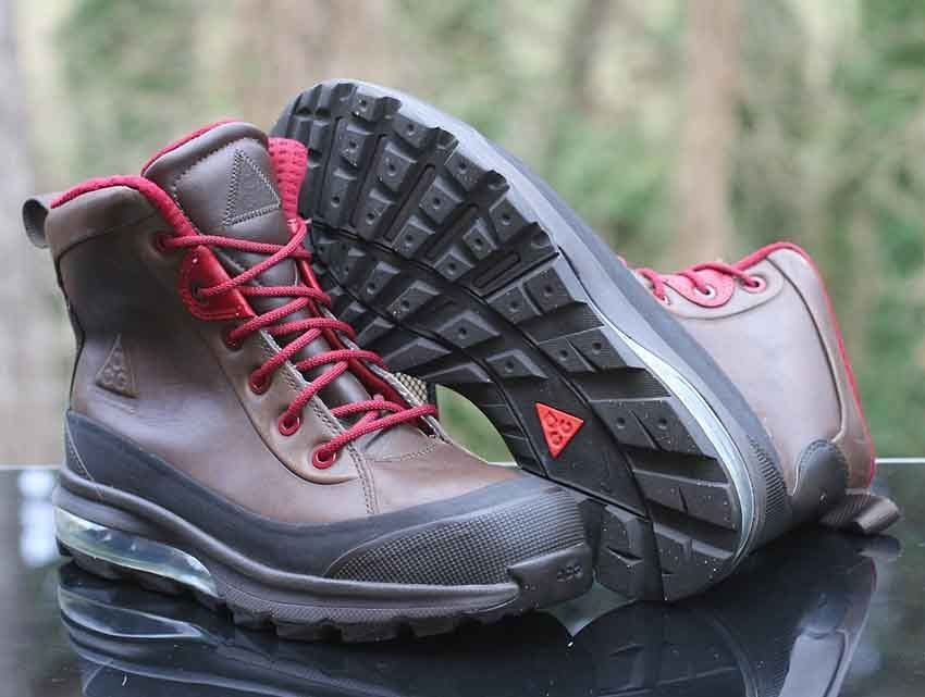 low priced 962a4 6b462 Nike Air Max Conquer ACG Men s Boots 472493-202 Dark Cinder Brown Red Size  9  Nike  HikingTrail