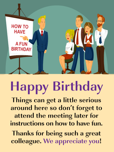 Birthday Instructions Happy Birthday Card For Colleague Birthday Greeting Cards By Davia Happy Birthday Fun Best Birthday Wishes Messages Birthday Wishes For Coworker