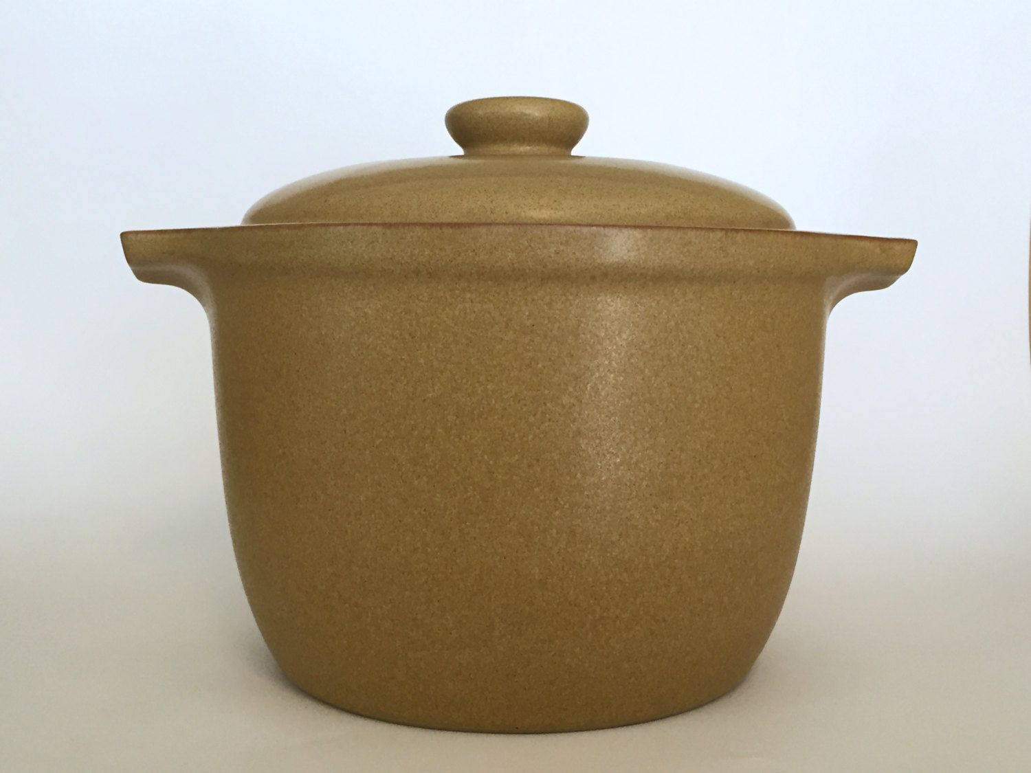 Rare Denby Stoneware Tall 2 Quart Covered Casserole Ode Pattern | 1960s English Production Pottery | Mid Century Modern