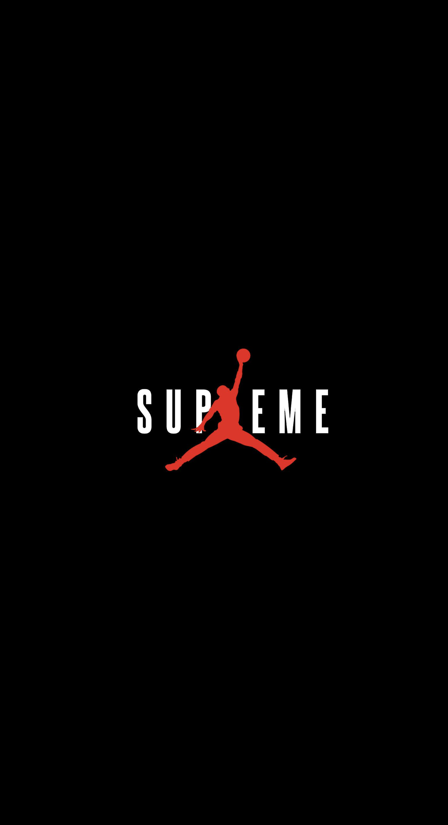 1534x2824 Supreme X Jordan Wallpaper Streetwear Streetwear Wallpapers Wallpaper Zone