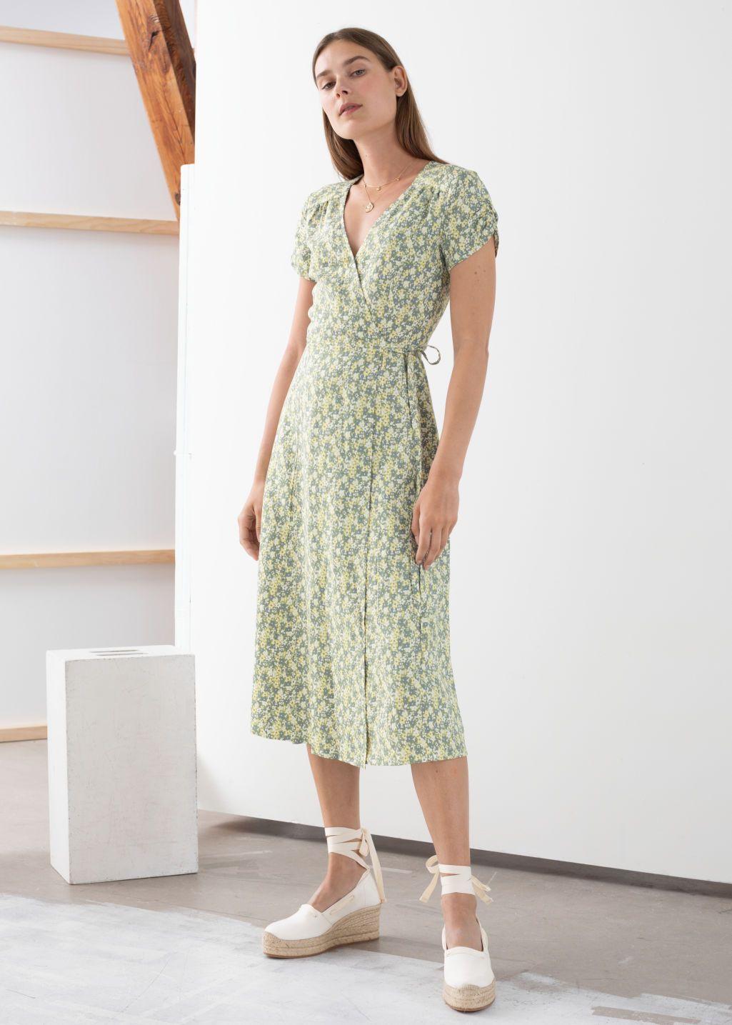 30++ Printed wrap dress info