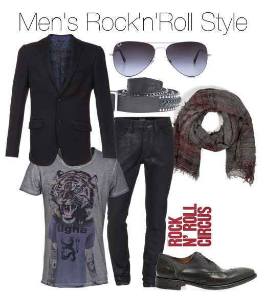 Men S Rock N Roll Style Clothing Combination Ideas
