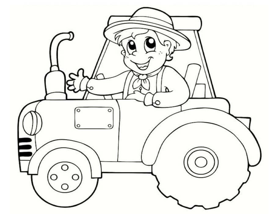 tractor and wagon coloring pages - חיפוש ב-Google | coloring pages ...