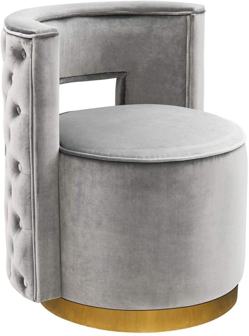 Homefun swivel vanity chair accent modern upholstered