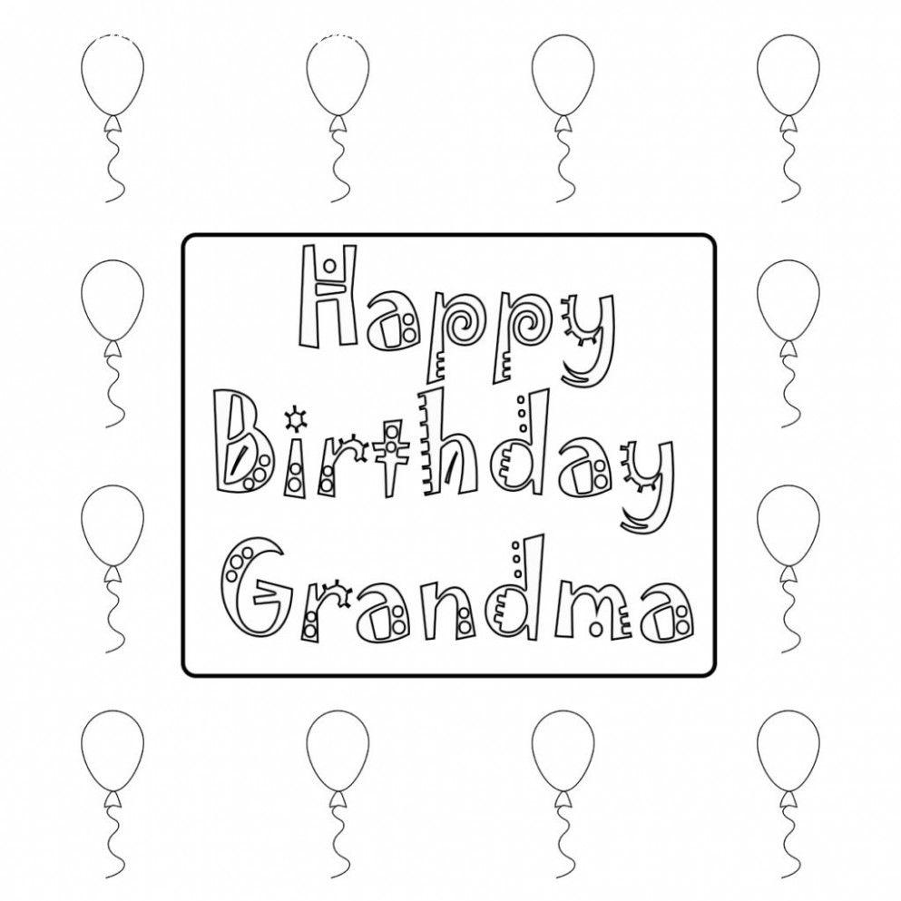 6 Happy Birthday Grandma Printable Card Happy Birthday Grandma Grandma Birthday Birthday Coloring Pages