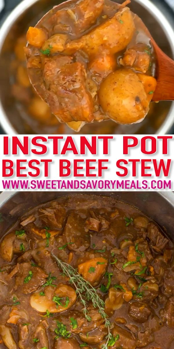 Ultimate Instant Pot Beef Stew [video] – Sweet and Savory Meals – Karen&RecettesDePoulet