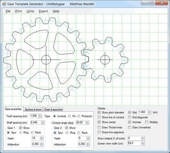 Gear template generator program | Education | Pinterest | Generators ...